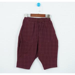時尚格子八分褲