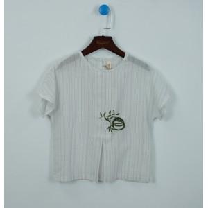 刺繡文藝風娃娃衫