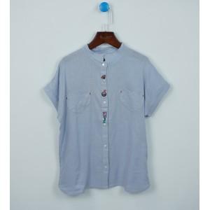 時尚文藝刺繡襯衫