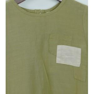 簡約休閒棉麻衫