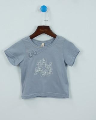 針織文藝刺繡棉T