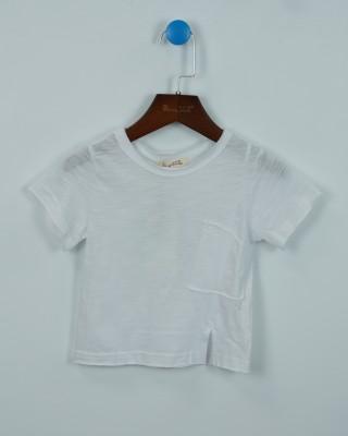 時尚針織毛邊棉T
