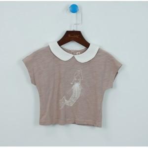 針織娃娃領棉T