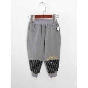 針織刺繡束腳褲
