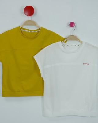 針織刺繡棉T