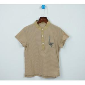 棉麻條紋套頭衫