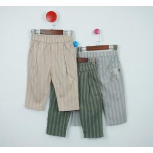時尚條紋休閒褲