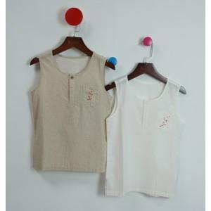 棉質刺繡背心