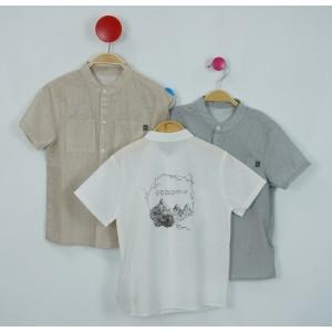 棉質立領襯衫