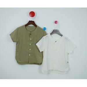 棉麻文藝襯衫