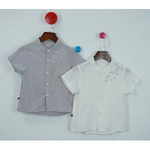 棉質刺繡襯衫