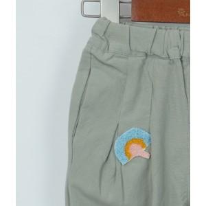 刺繡七分褲