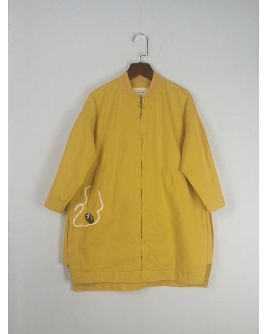 刺繡風衣外套