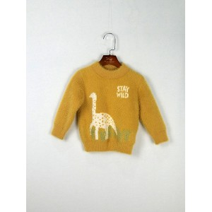 恐龍圓領毛衣