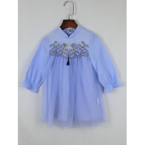 文藝刺繡連身裙