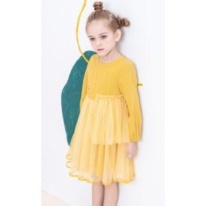 刺繡網紗連身裙