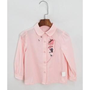 刺繡娃娃領襯衫