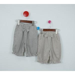 時尚條紋燈籠褲